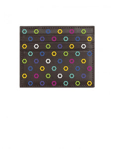 Portafoglio Pattern Edition Hexagon Marrone