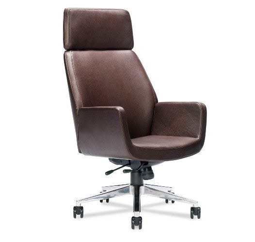 Executive Leather Office Chair with Memory Foam