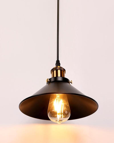 An industrial ceiling lamp of black color on white background
