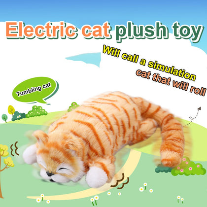 Electric Laughing and Rolling Cat Toy