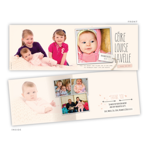 Baby Card - Soft Pink Card - 75 Cards
