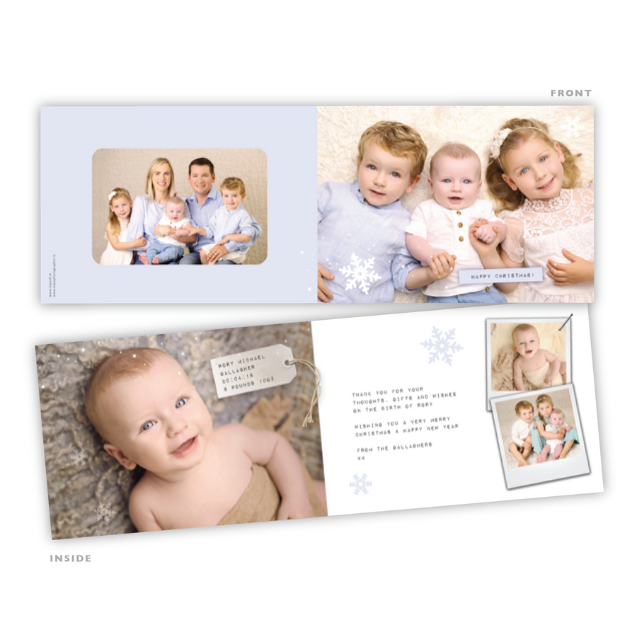 Baby Card - Soft Blue Card - 75 Cards