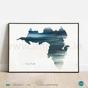 'Achill Ocean Art', Unframed - Wall art print, poster or mount