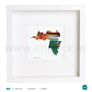 'Achill Oil Art', Print in a white box frame