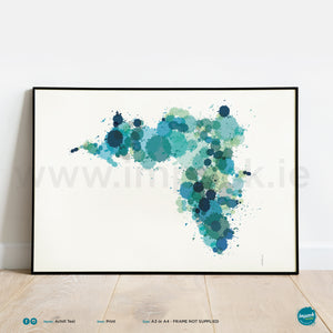 'Achill Teal', Unframed - Wall art print, poster or mount