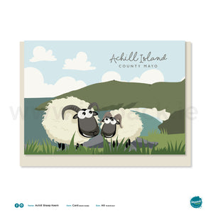 Greetings Card - Achill Sheep Keem