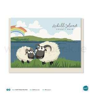 Greetings Card - Achill Sheep Mountain