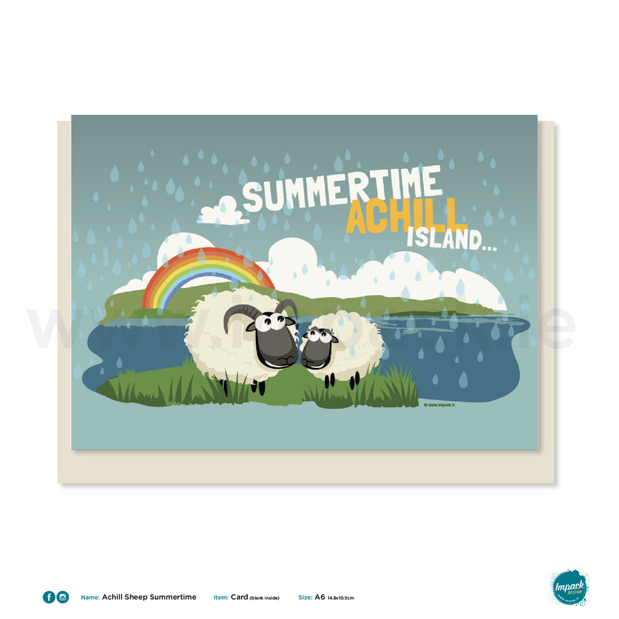 Greetings Card - Achill Sheep Summertime