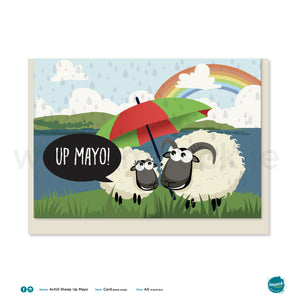 "Greetings Card - Achill Sheep ""Up Mayo!"""