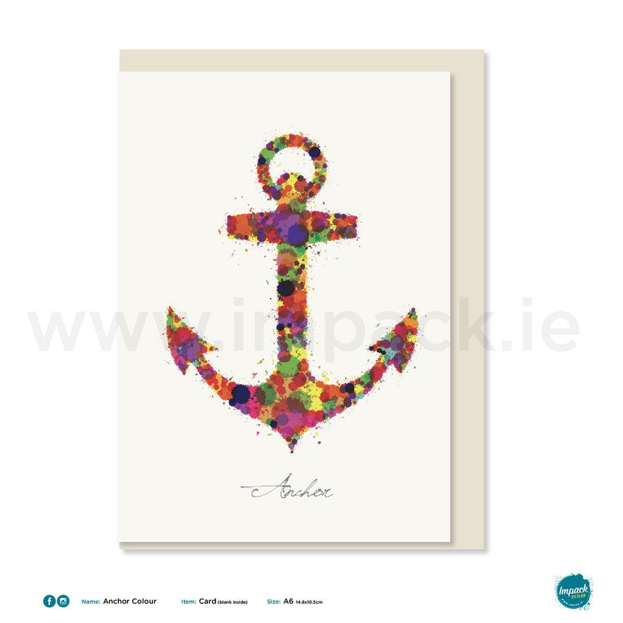 "Greetings Card - ""Anchor"""