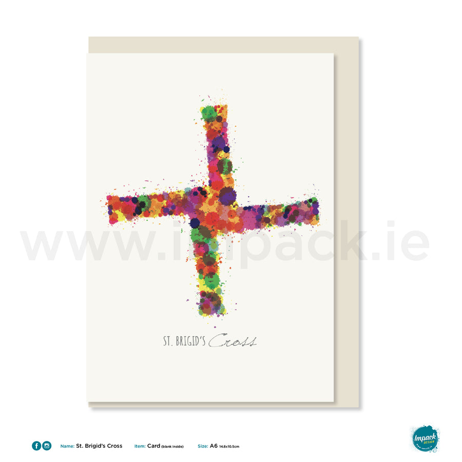 "Greetings Card - ""St. Brigid's Cross"""
