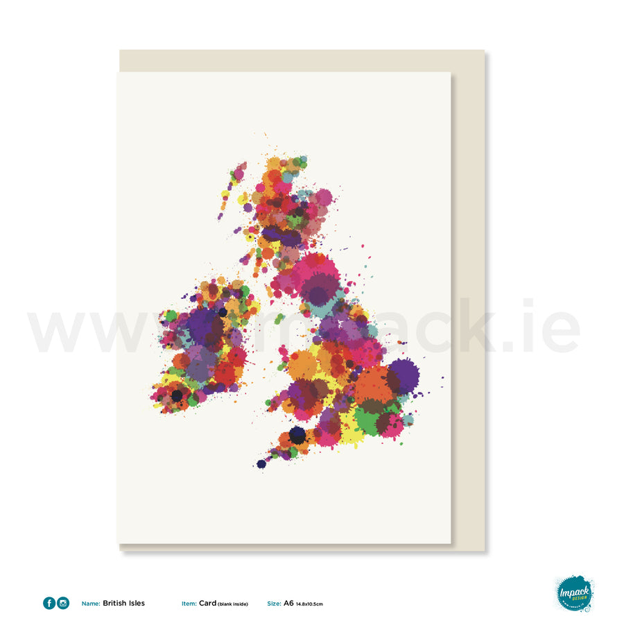 "Greetings Card - ""British Isles"""