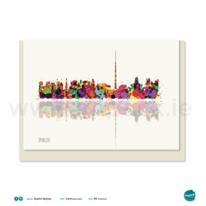"Greetings Card - ""Dublin Skyline"""