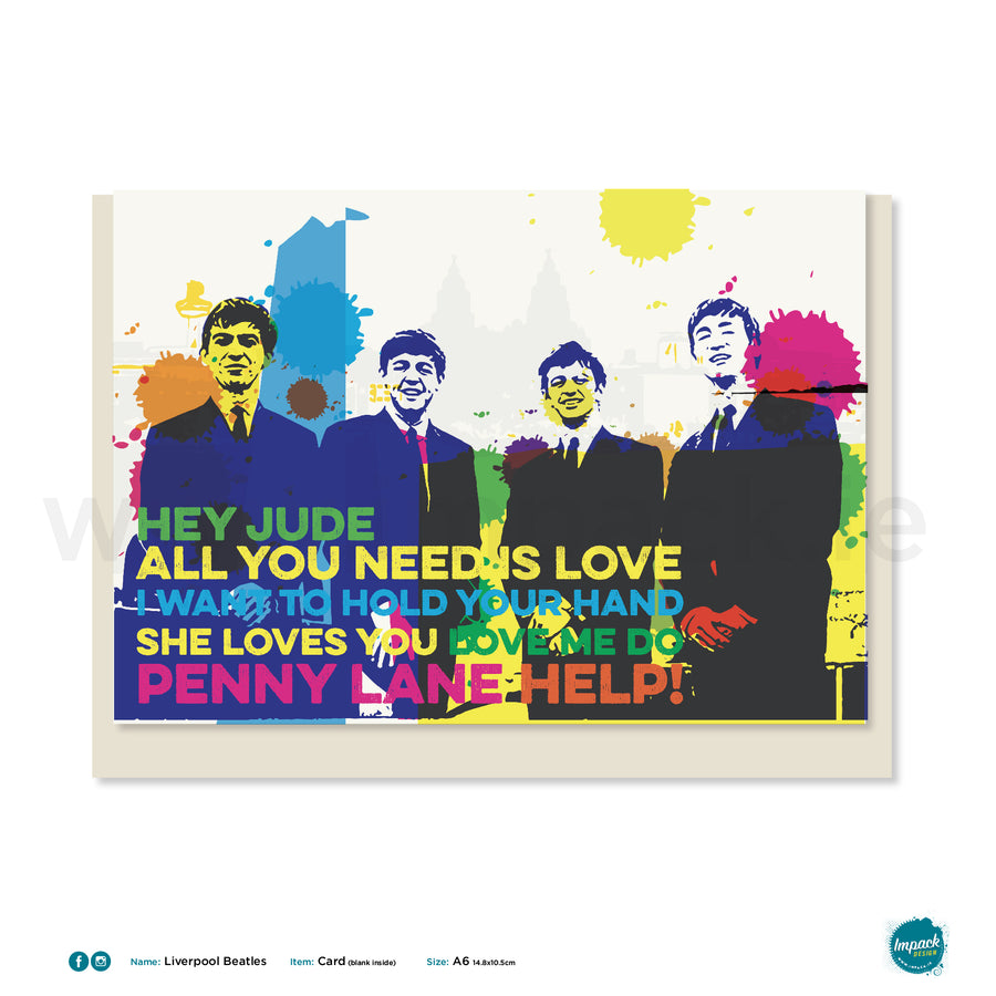 "Greetings Card - Liverpool - ""The Beatles"""