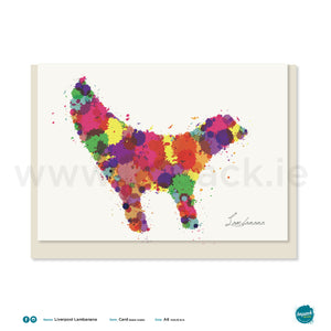 "Greetings Card - Liverpool - ""Lambanana"" Splat Art"