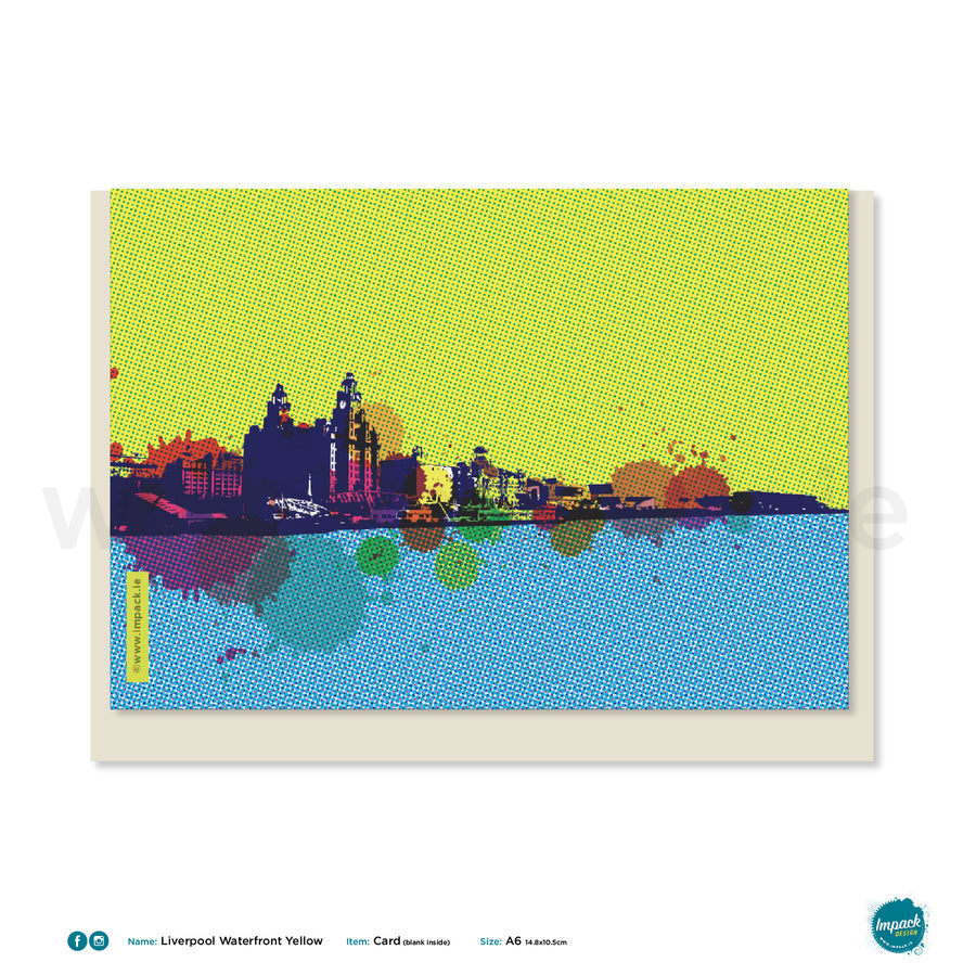 "Greetings Card - Liverpool - ""Waterfront Yellow"""