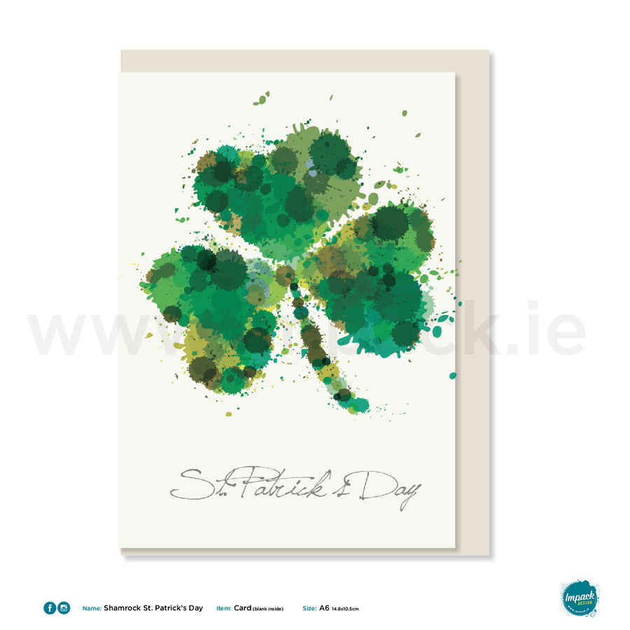 "Greetings Card - ""St. Patrick's Day Shamrock"""
