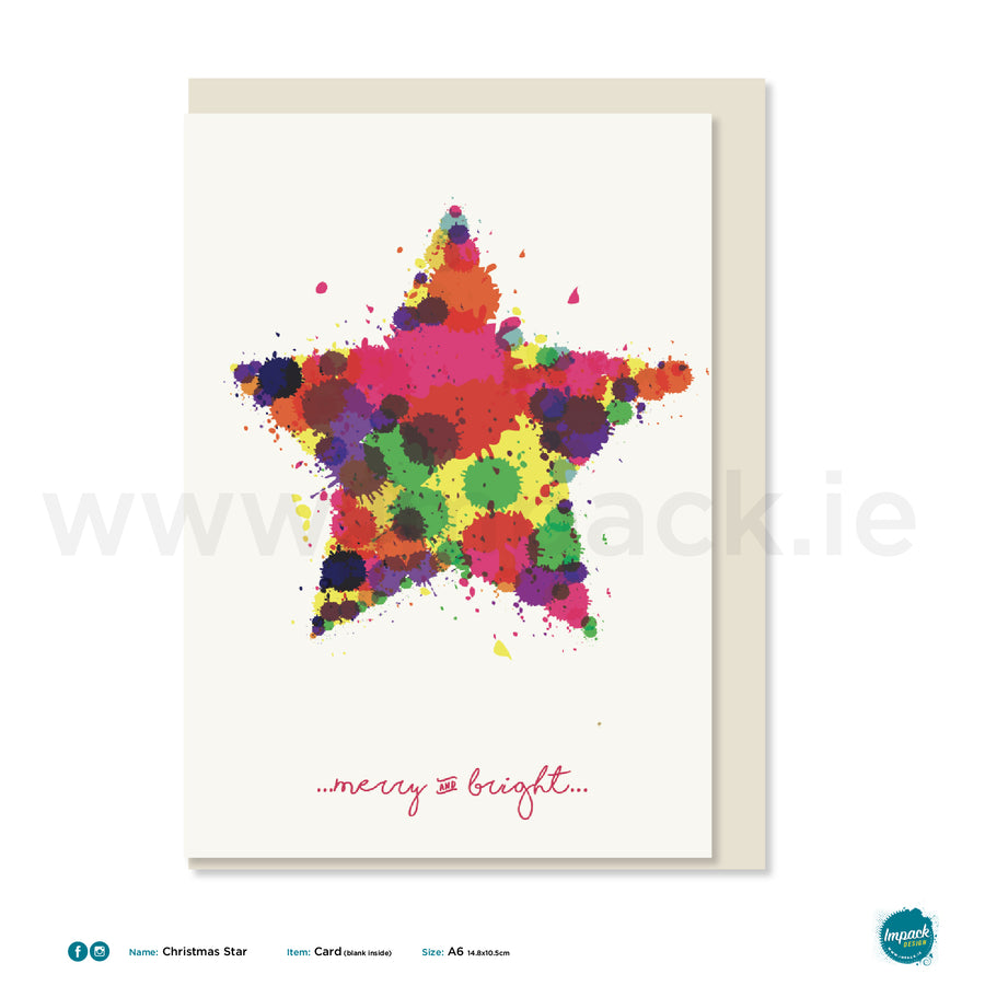 "Greetings Card - ""Star"""