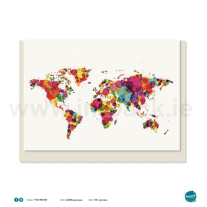 "Greetings Card - ""The World"""