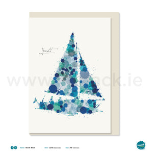"Greetings Card - ""Yacht Blue"""