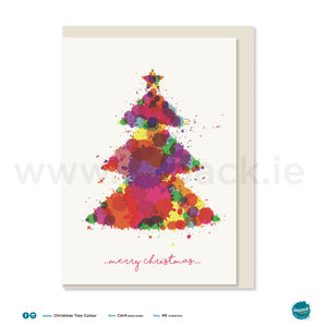 "Greetings Card - ""Christmas Tree Colour"""