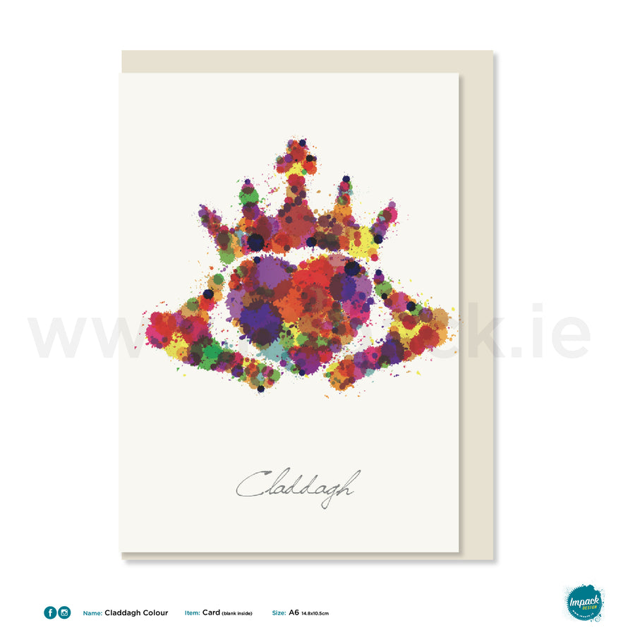 "Greetings Card - ""Claddagh Colour"""