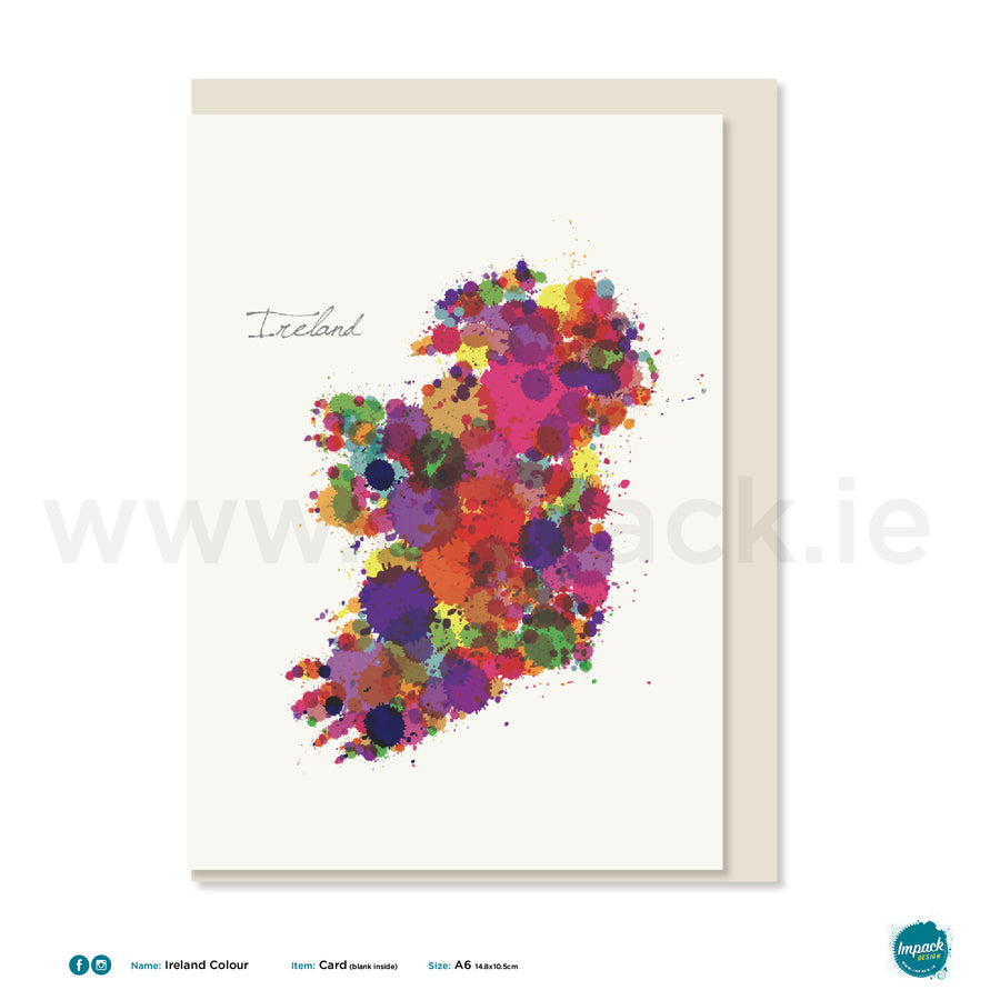 "Greetings Card - ""Ireland Colour"""