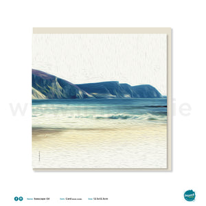 Greetings Card - 'Seascape Oil Minaun'