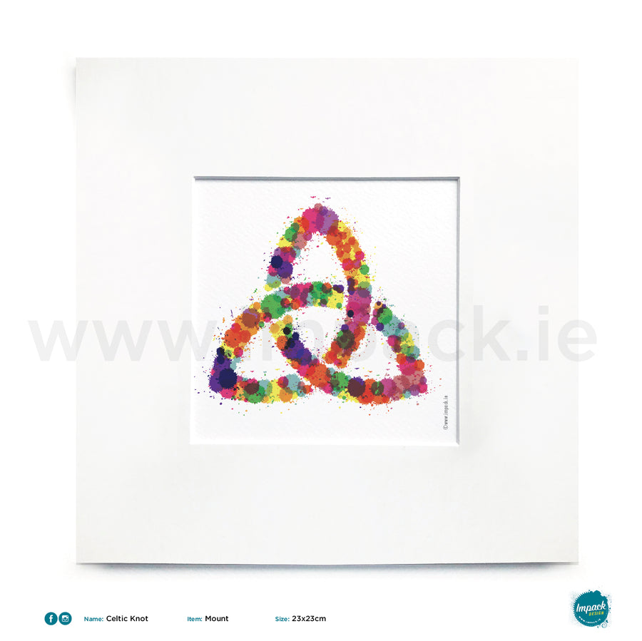 'Celtic Knot', Unframed - Wall art print, poster or mount
