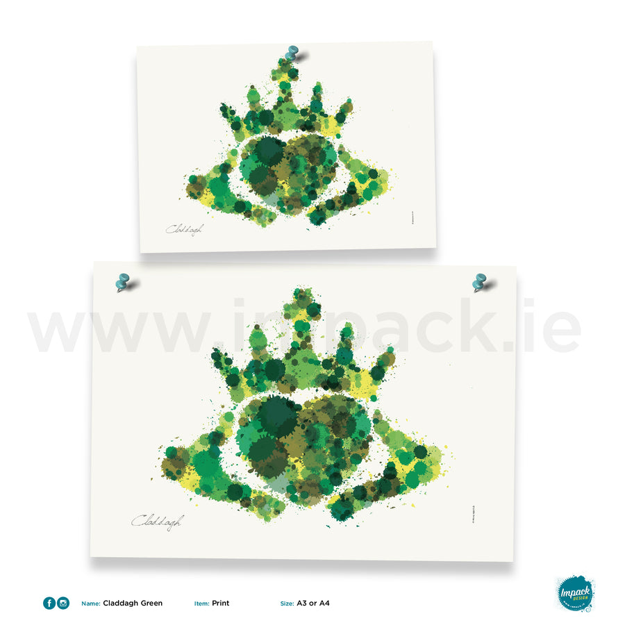'Claddagh Green', Unframed - Wall art print, poster or mount