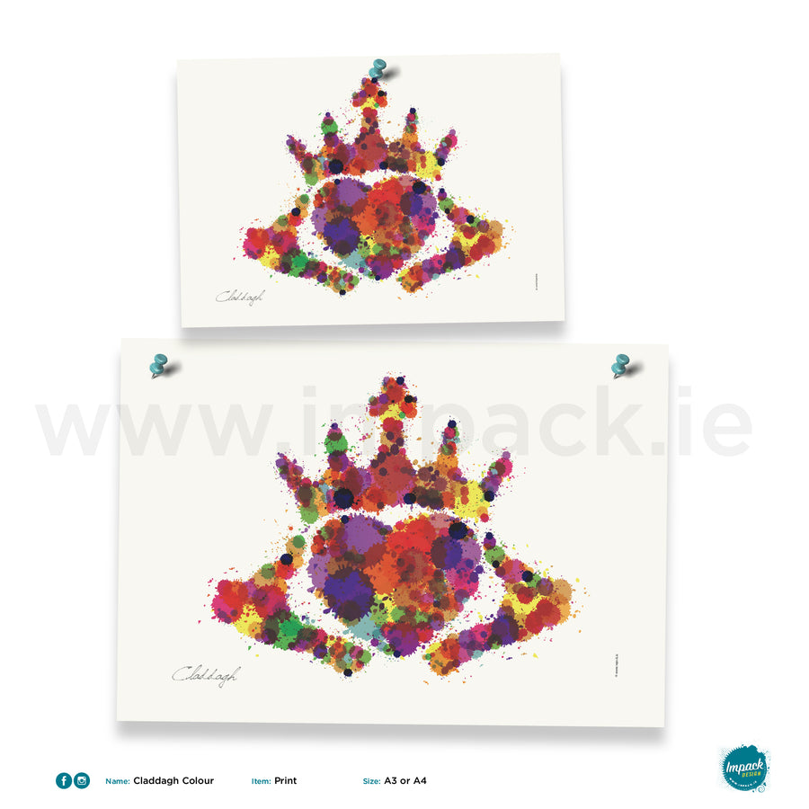 'Claddagh Colour', Unframed - Wall art print, poster or mount