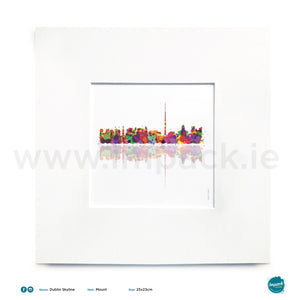 'Dublin Skyline', Unframed - Wall art print, poster or mount