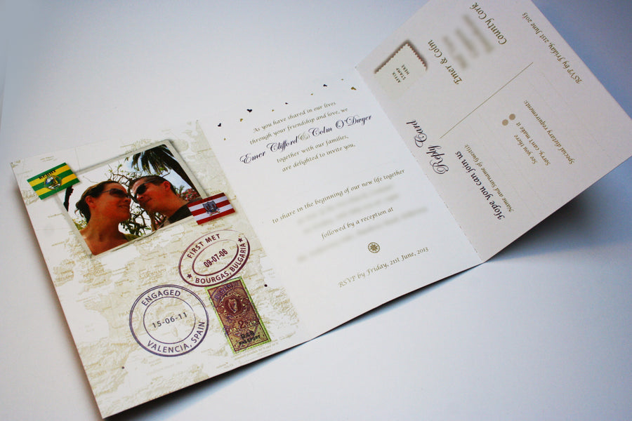 Wedding Invitation - Passport - 100 invitations