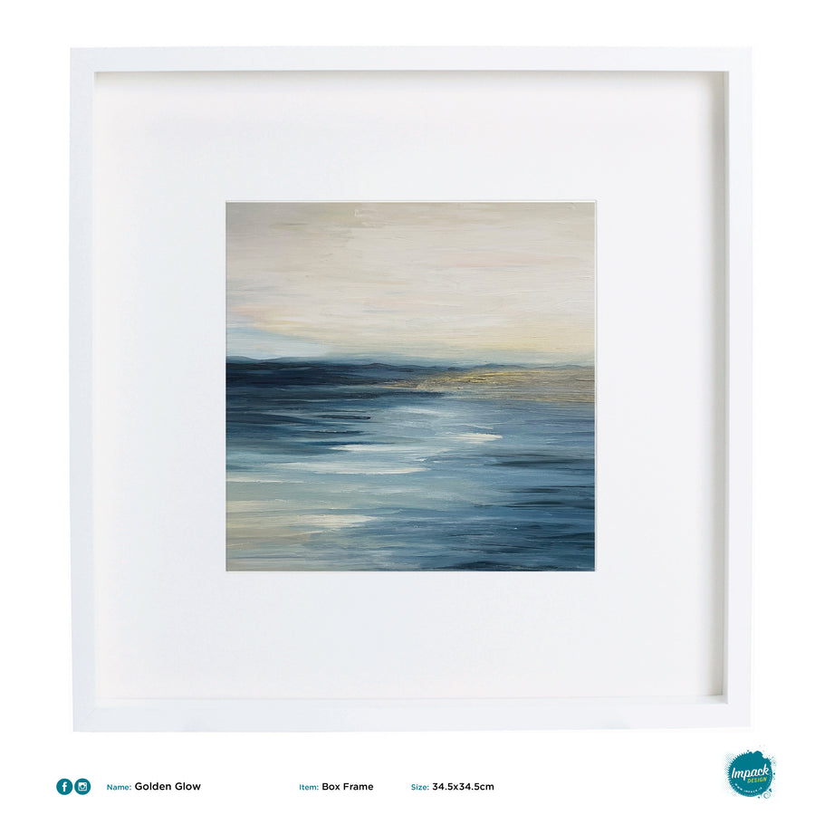 'Golden Glow', abstract seascape print - framed or unframed