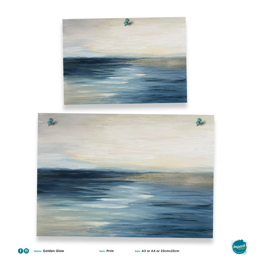 seascape painting poster impack design