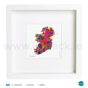 'Ireland Colour', Art Splat Print in a white box frame