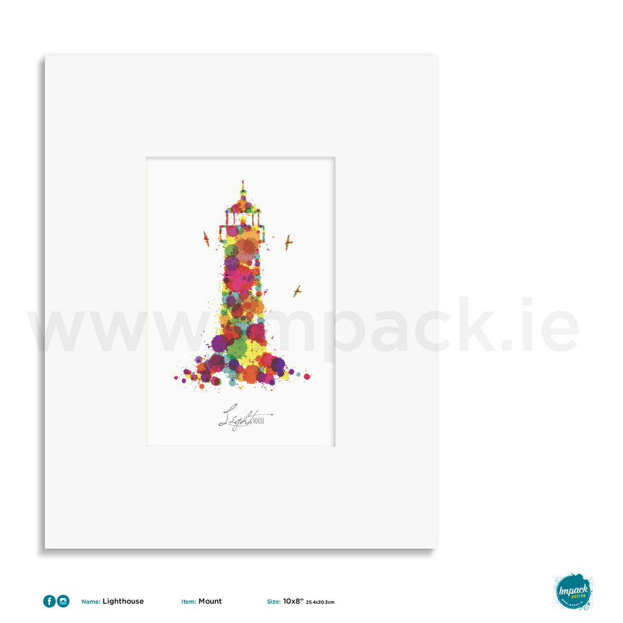 'Lighthouse', Unframed - Wall art print, poster or mount