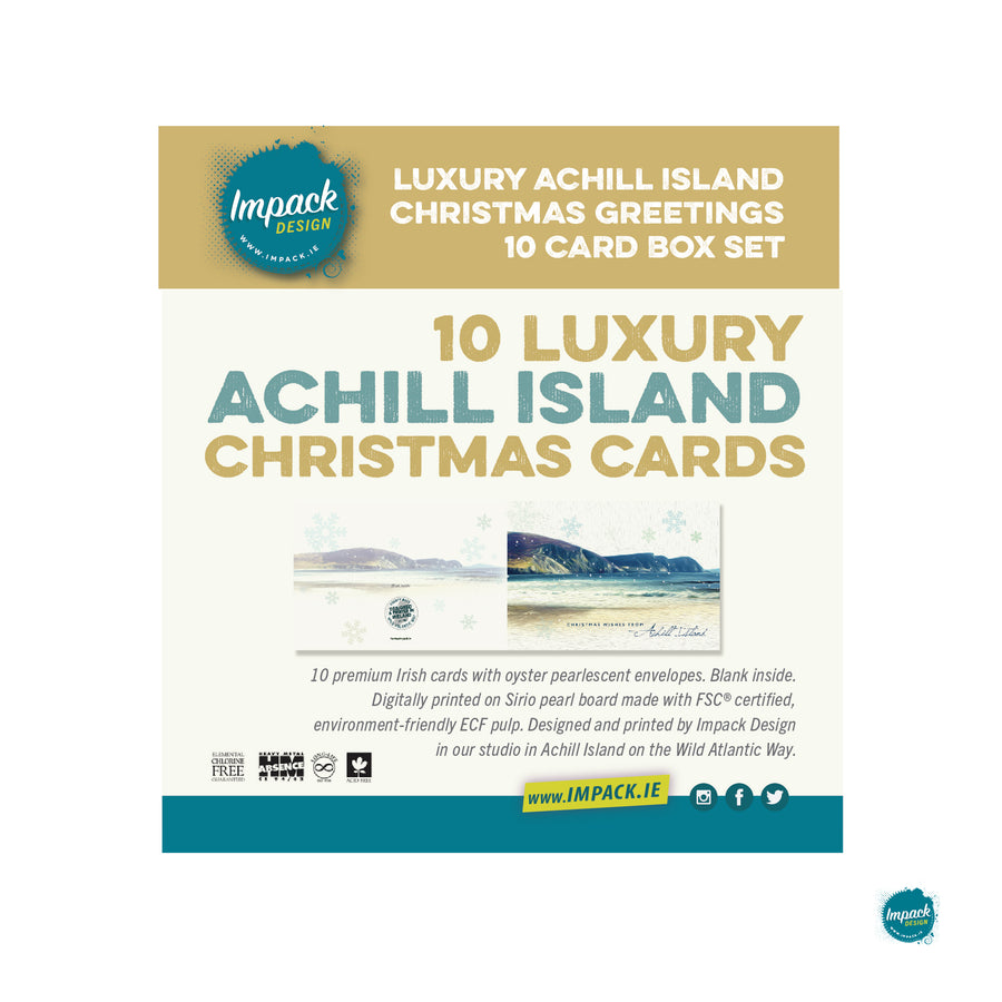 Minaun, Achill Island 10 luxury Christmas cards box set