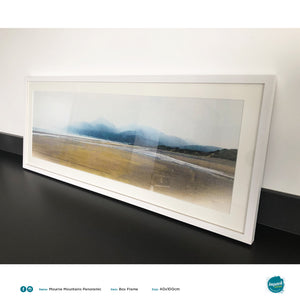 'Mountains of Mourne,' Print in a 100x40cm Panoramic white box frame