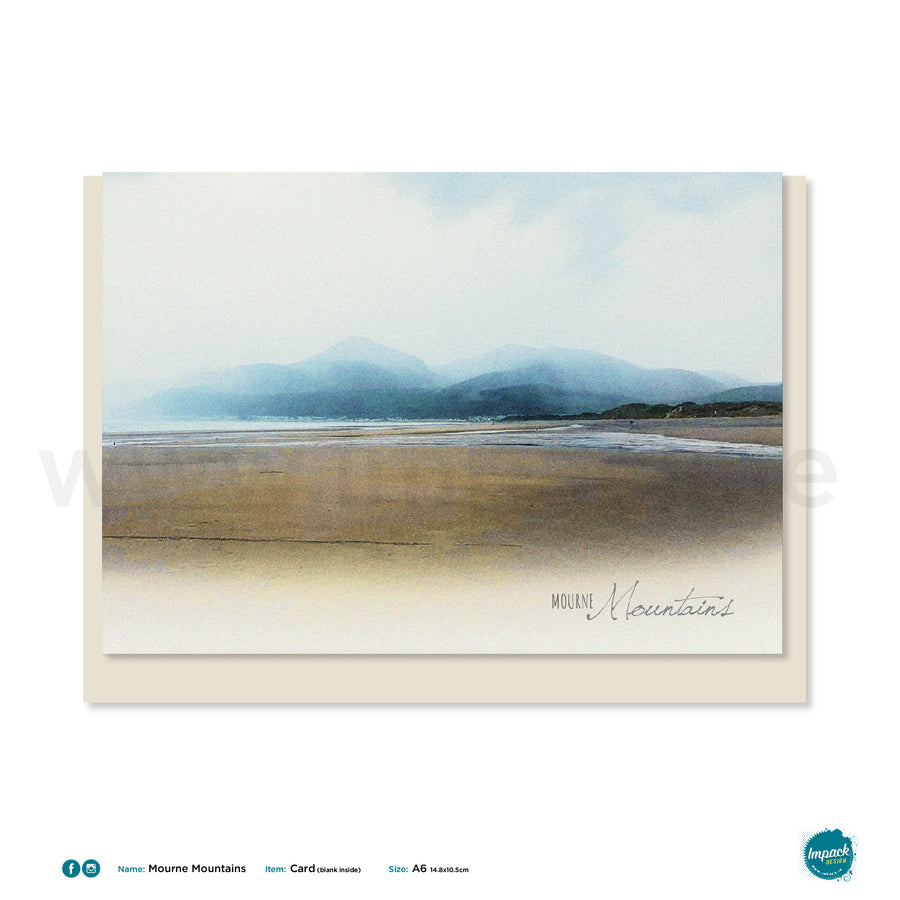 Greetings Card -  'Mountains of Mourne' A6