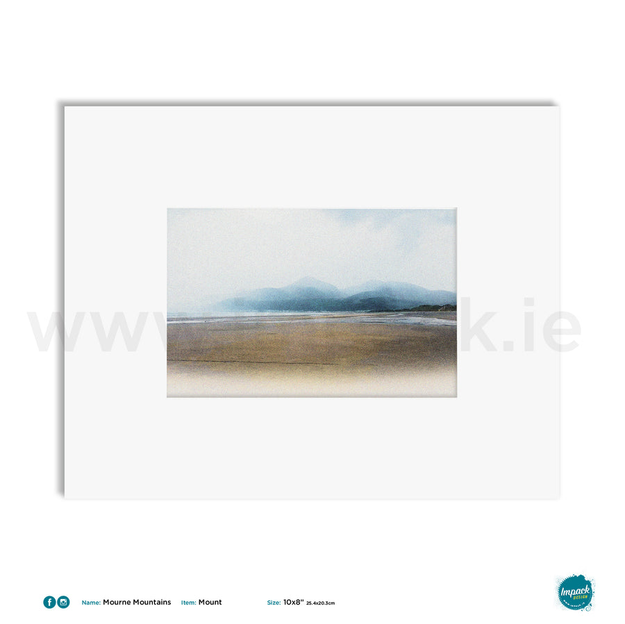 'Mourne Mountains', Unframed - Wall art print, poster or mount