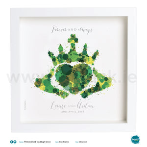 'Claddagh Green', PERSONALISED framed or unframed - Wall art print