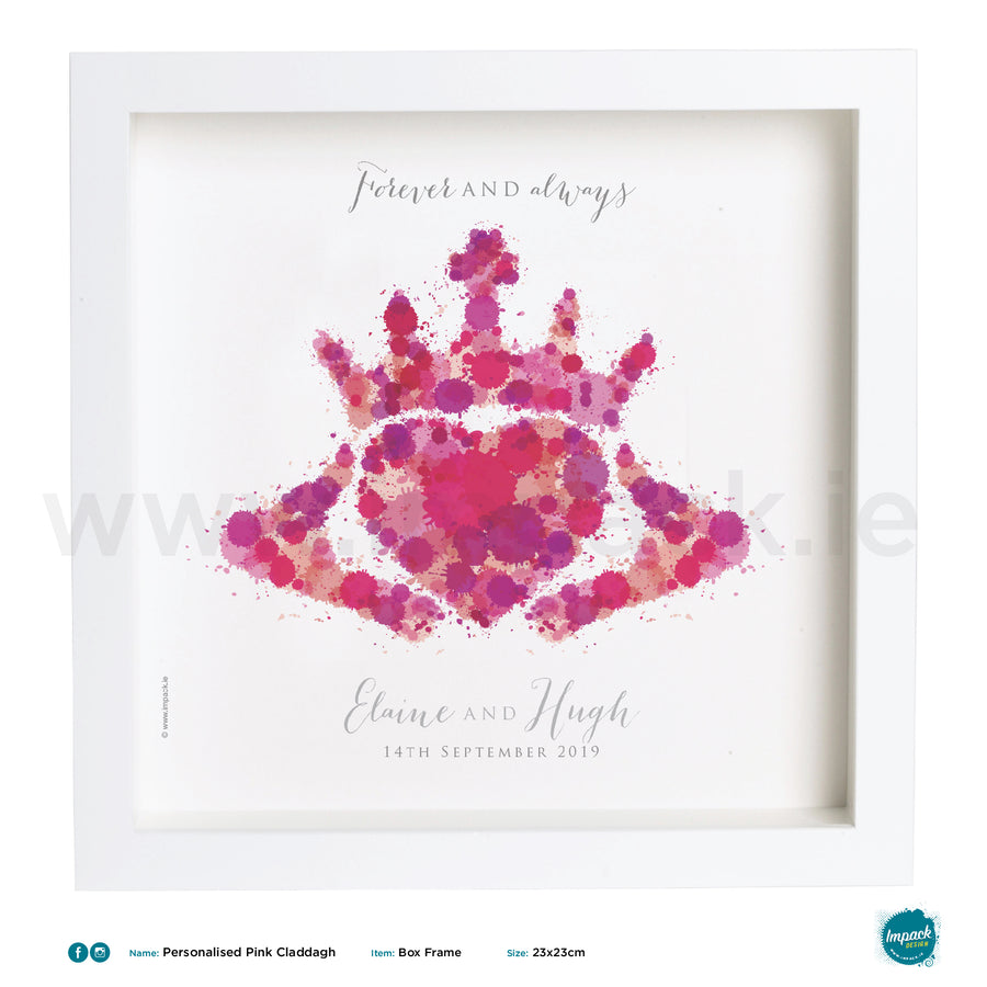 'Claddagh Pink', PERSONALISED framed or unframed - Wall art print