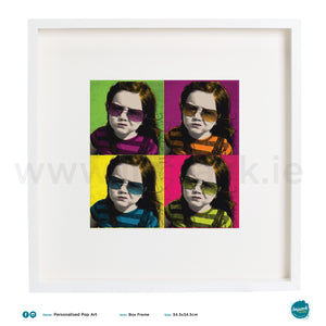 'Pop art style', PERSONALISED framed or unframed - Wall art print