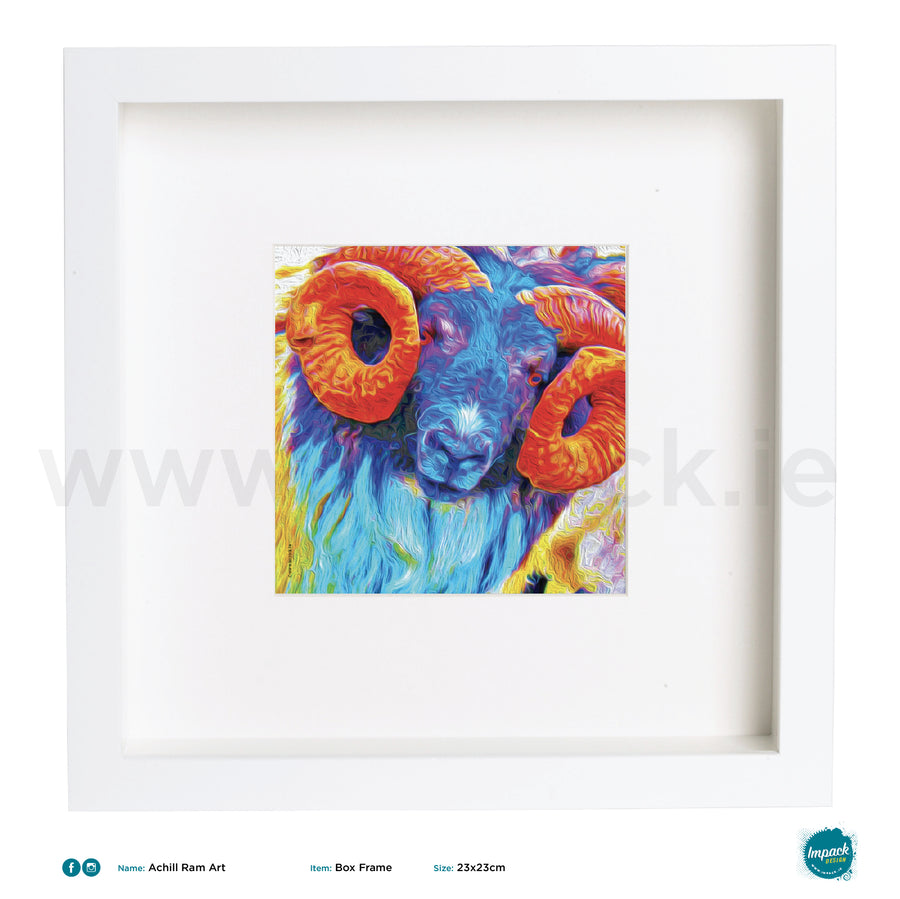 'Ram', Print in a white box frame