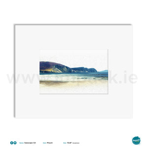 'Seascape Oil Minaun' (Rectangular), Unframed - Wall art print, poster or mount