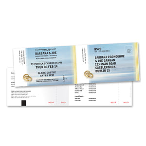 Wedding Invitation - Ticket- 100 invitations