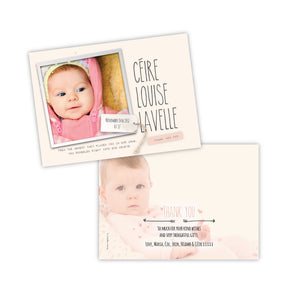 Baby Card - Soft Pink Postcard - 75 Cards