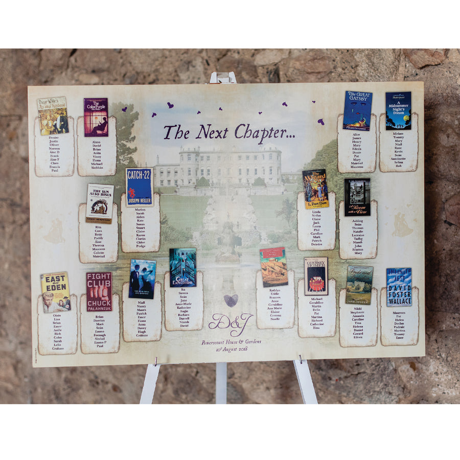 Wedding - Vintage Book A1 Table Plan