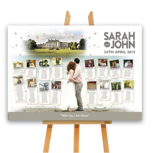 Wedding - Watercolour Venue A1 Table Plan